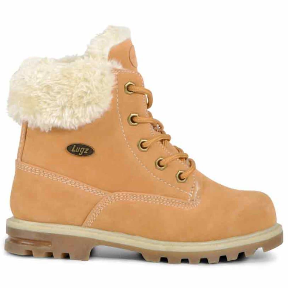 LUGZ Big Girls' 6 in. Grade School Empire Hi Fur Boots - WHEAT