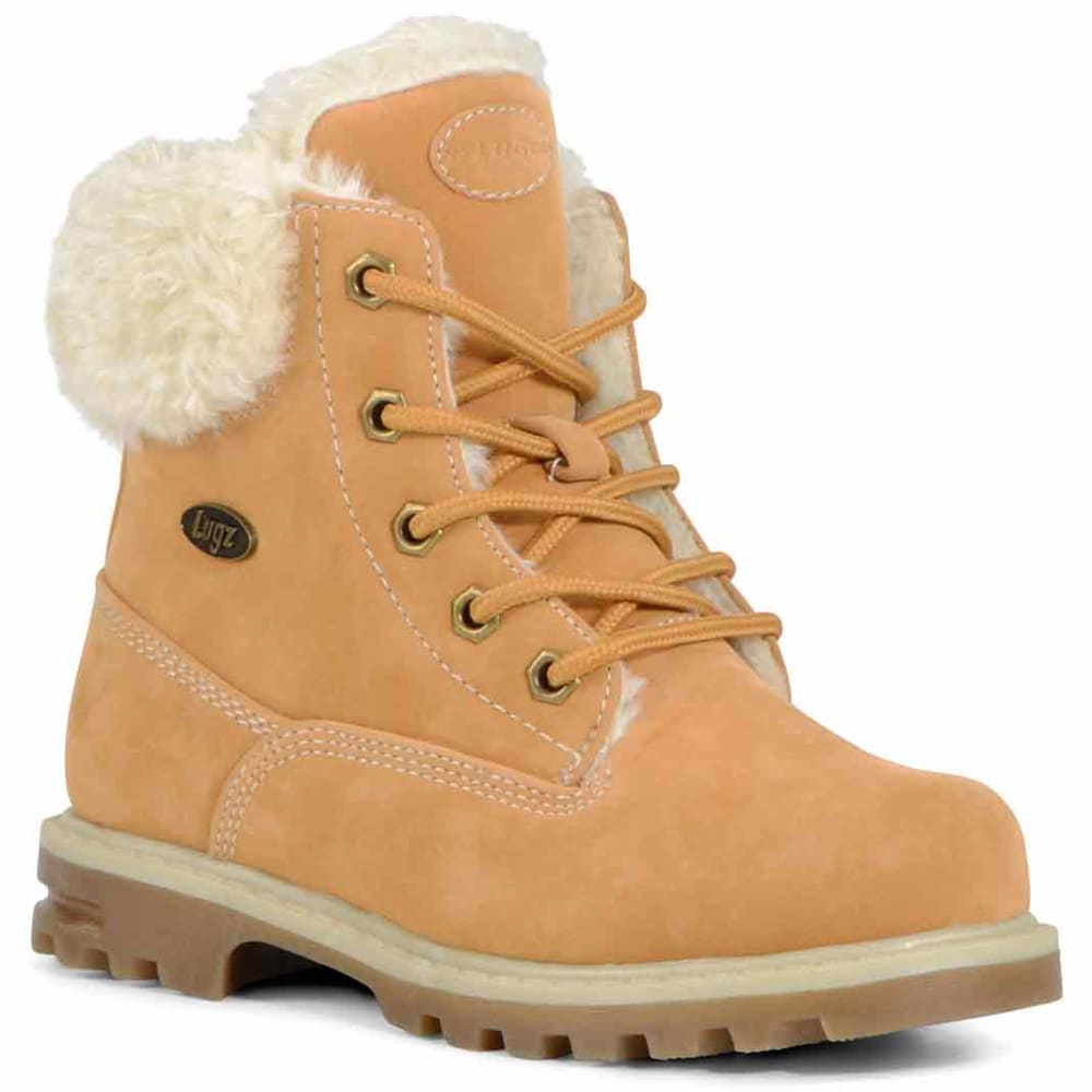 LUGZ Big Girls' 6 in. Grade School Empire Hi Fur Boots - WHEAT