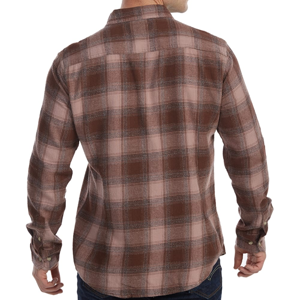 FREE NATURE Guys' Yarn-Dyed Long-Sleeve Flannel Shirt - BROWN