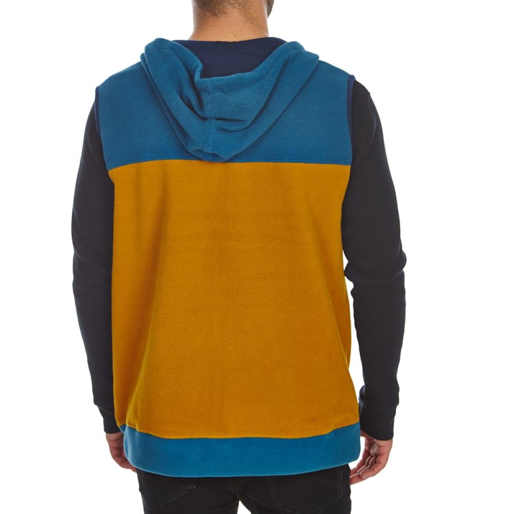FREE NATURE Guys' Hooded Polar Fleece Zip-Up Vest - MALLARD BLUE