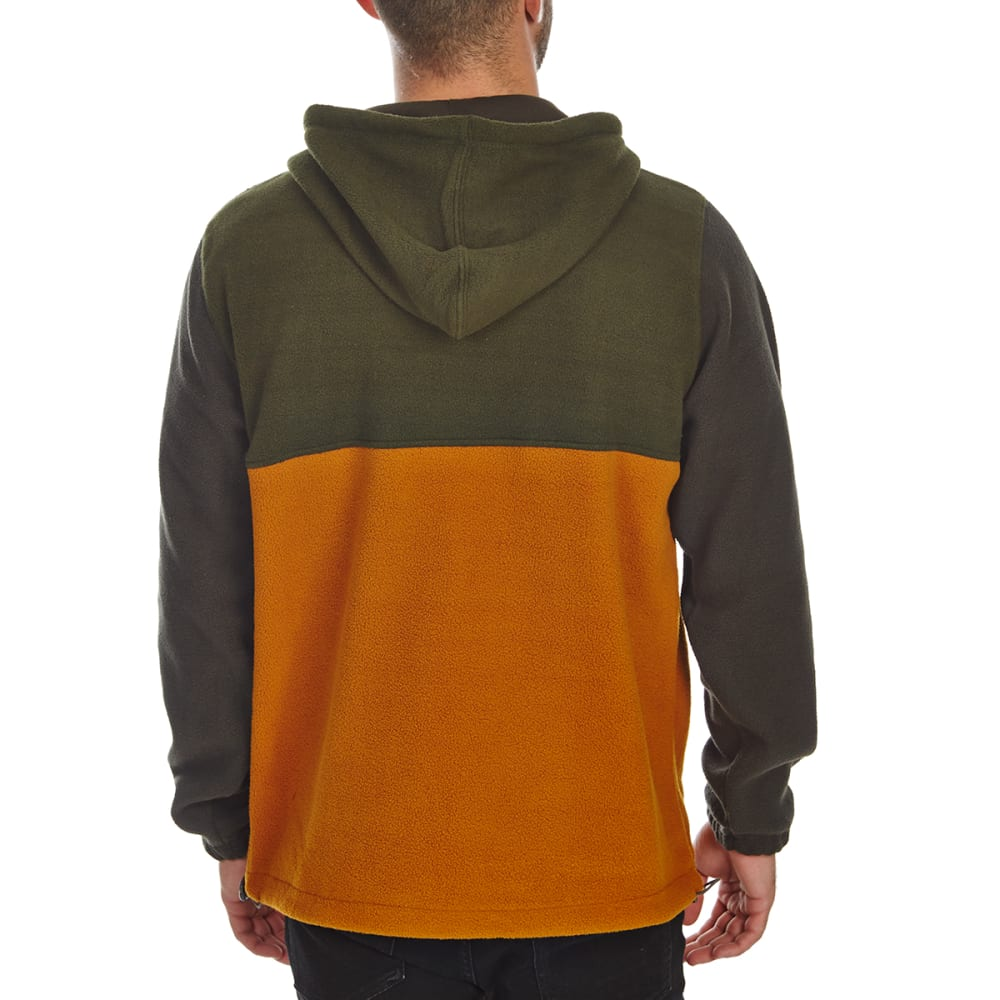 FREE NATURE Guys' 1/4 Zip Polar Fleece Hoodie - DARK ARMY