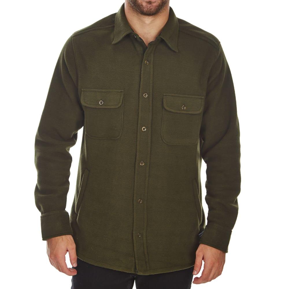 FREE NATURE Guys' Polar Fleece Shirt Jacket - DARK ARMY