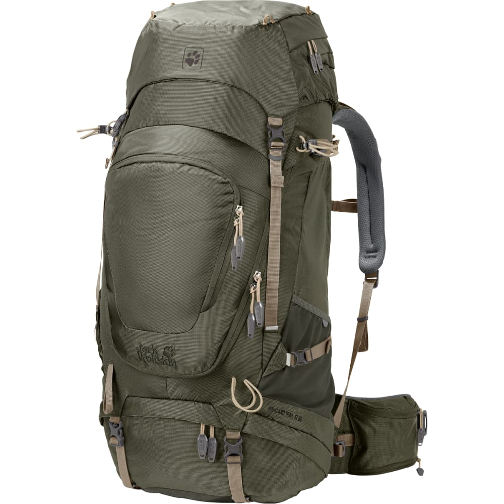 JACK WOLFSKIN Highland Trail XT 60 Hiking Backpack - WOODLAND GREEN