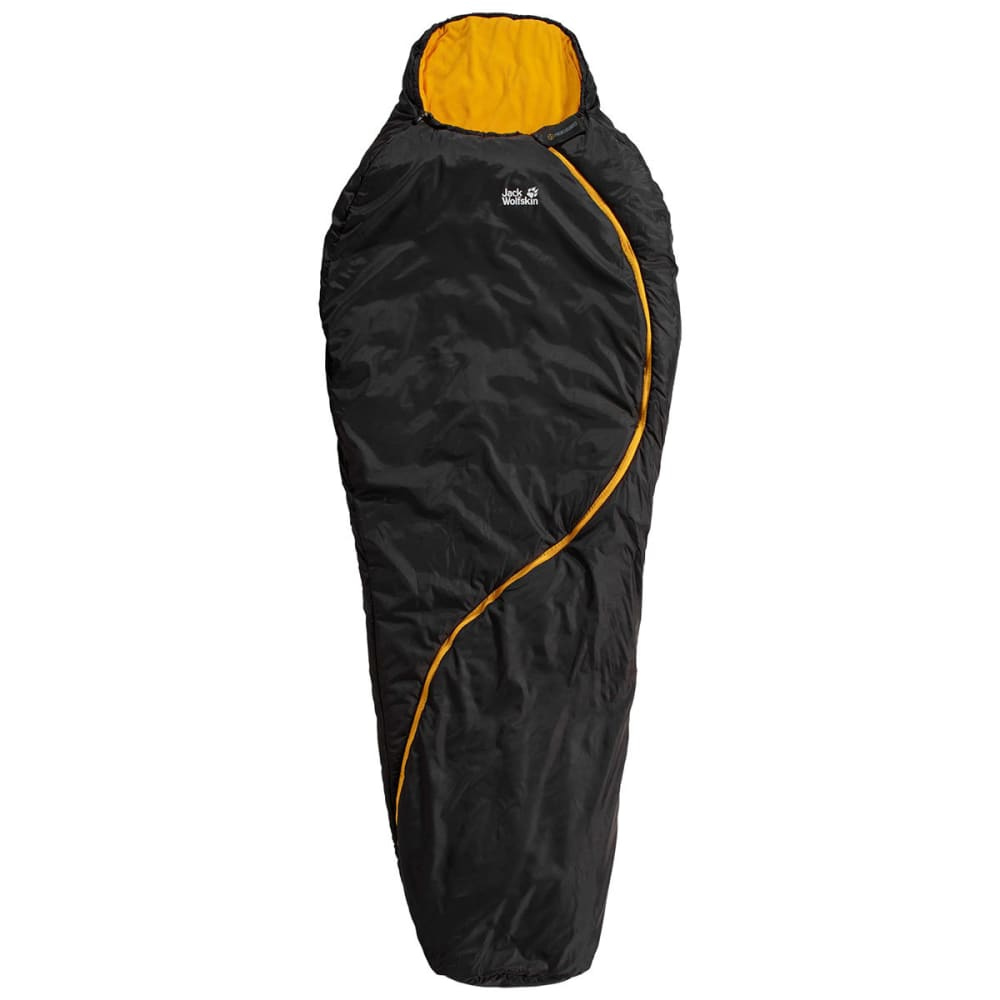 JACK WOLFSKIN Smoozip 23F Sleeping Bag, Regular - BLACK