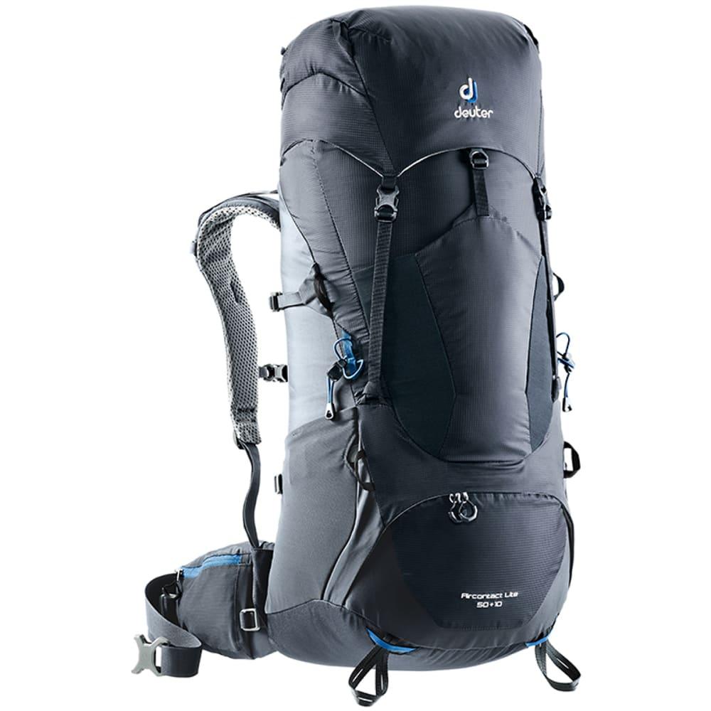 DEUTER Aircontact Lite 50 + 10 Backpack - BLACK/GRAPHITE