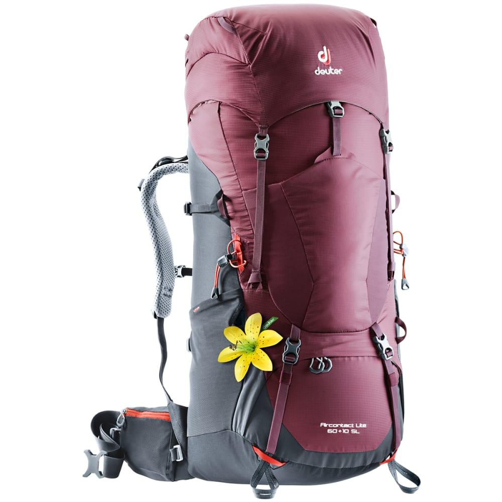 DEUTER Women's Aircontact Lite 60 + 10 Backpack - MAROON/GRAPHITE