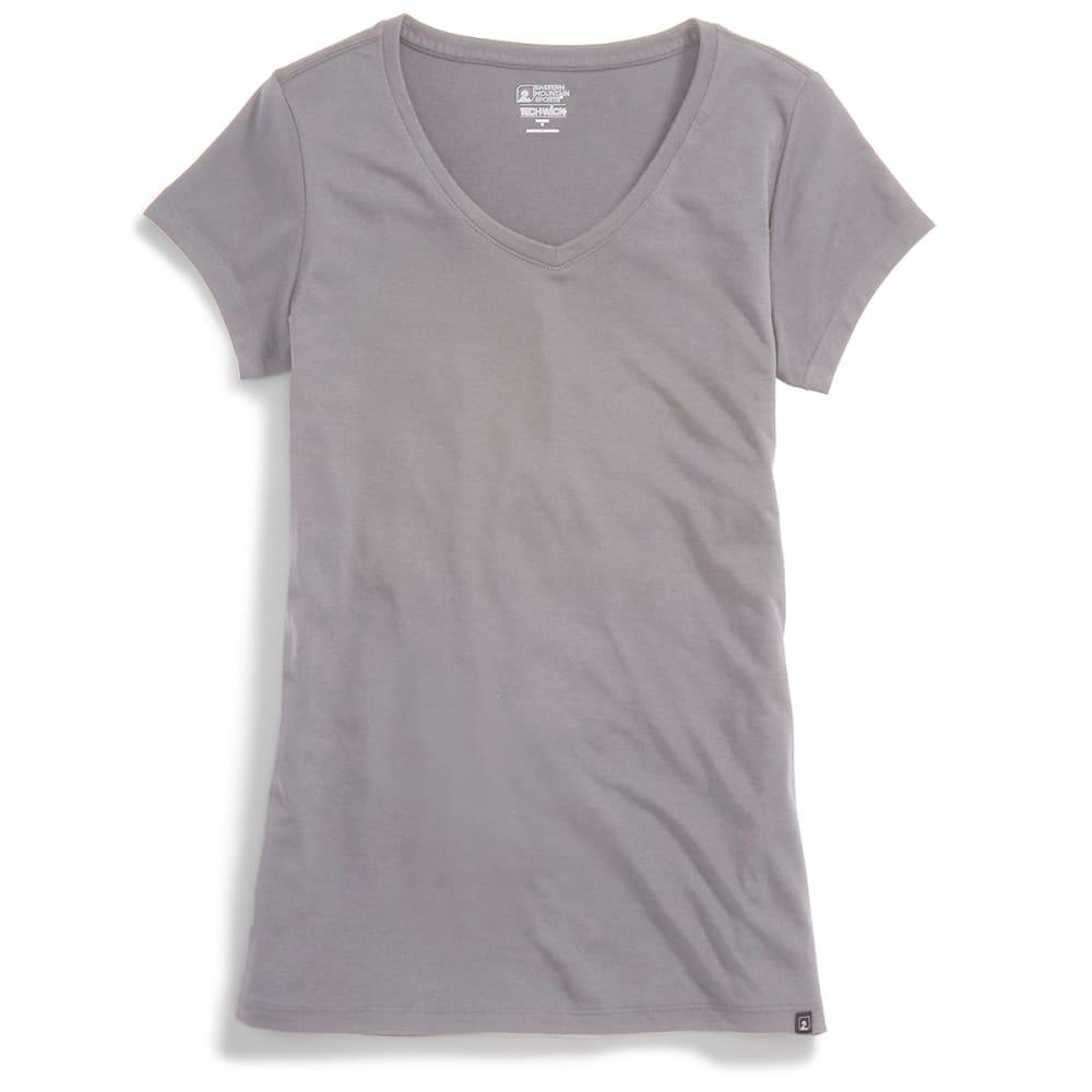 EMS® Women's Techwick® Vital V-Neck Short-Sleeve Tee - NEUTRAL GRY