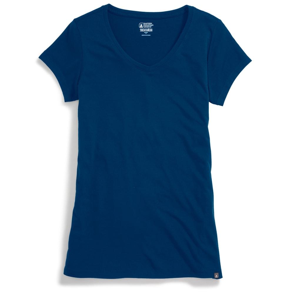 EMS® Women's Techwick® Vital V-Neck Short-Sleeve Tee - POSEIDON
