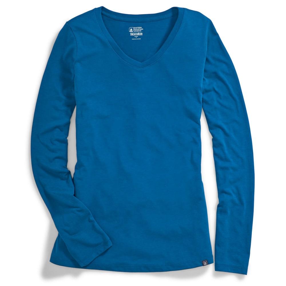 EMS® Women's Techwick® Vital V-Neck Long-Sleeve Tee - MYKONOS