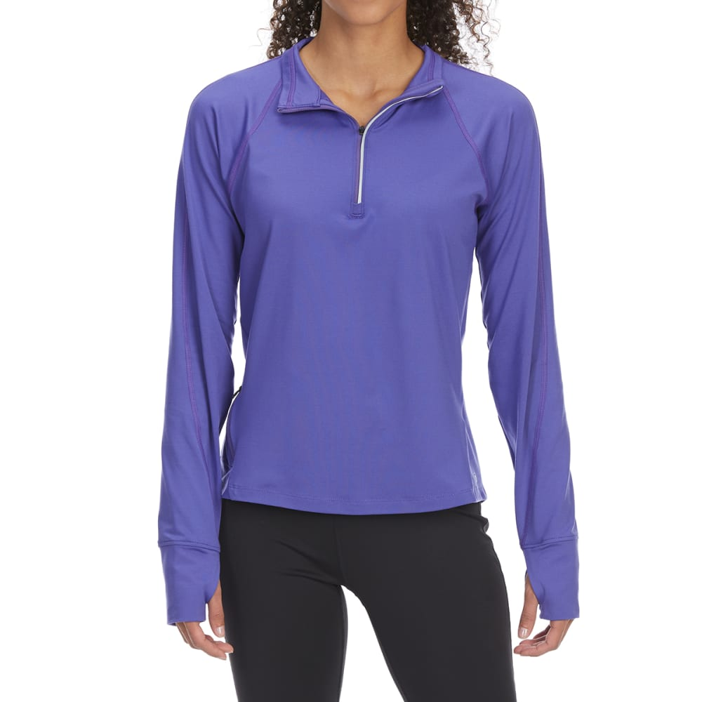EMS Women's Techwick Transition 1/2-Zip Pullover - PURPLE CORRALITES