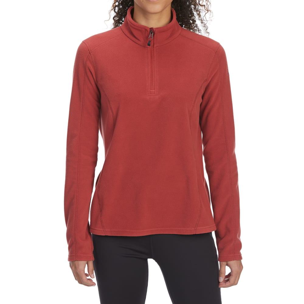 EMS Women's Classic Micro Fleece 1/4 Zip Pullover - ROSEWOOD