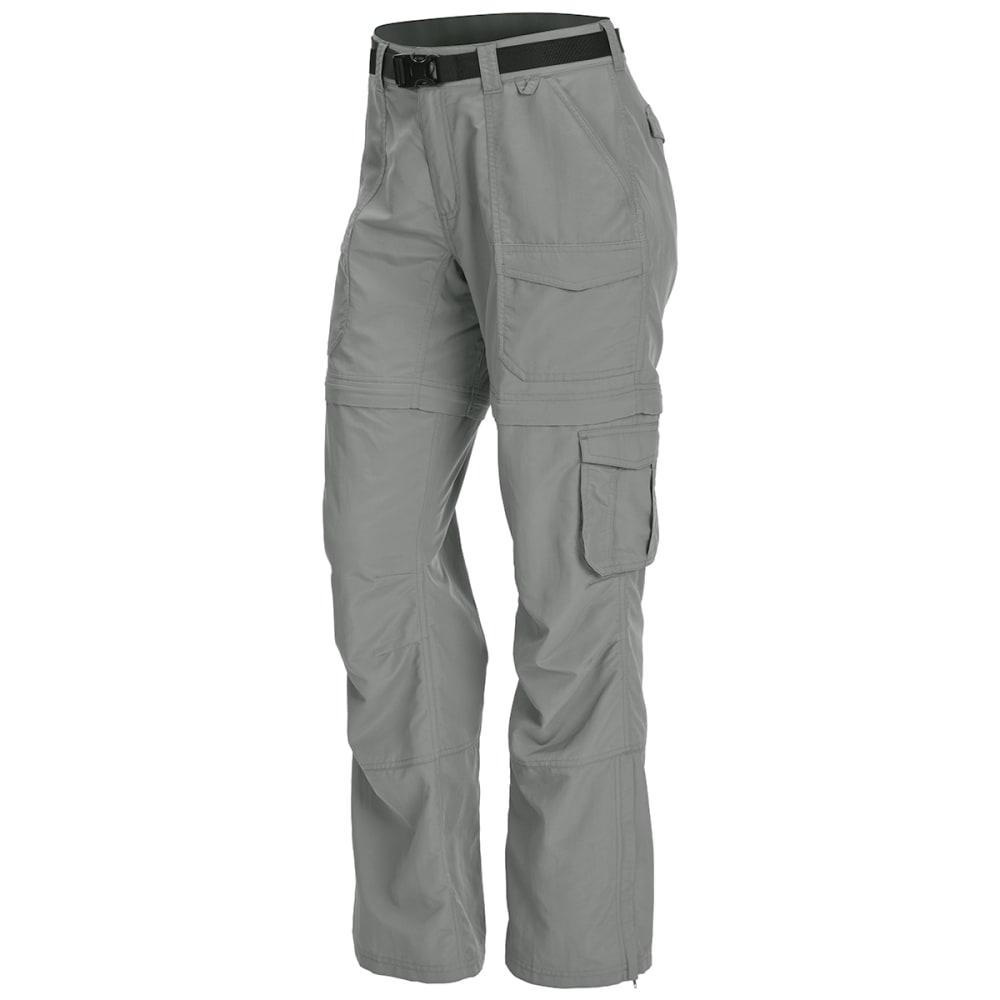 EMS Women's Camp Cargo Zip-Off Pants - NEUTRAL GRY