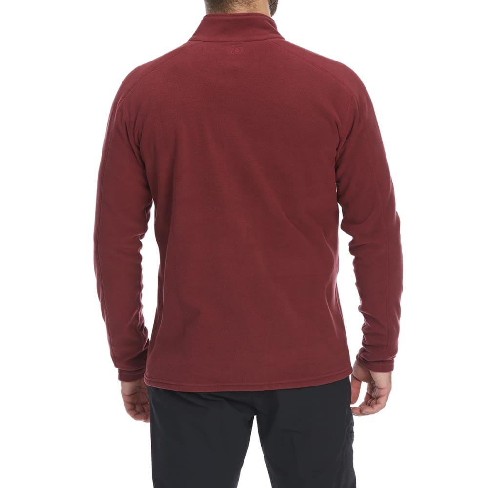 EMS Men's Classic Micro Fleece 1/4 Zip Pullover - TAWNY PORT