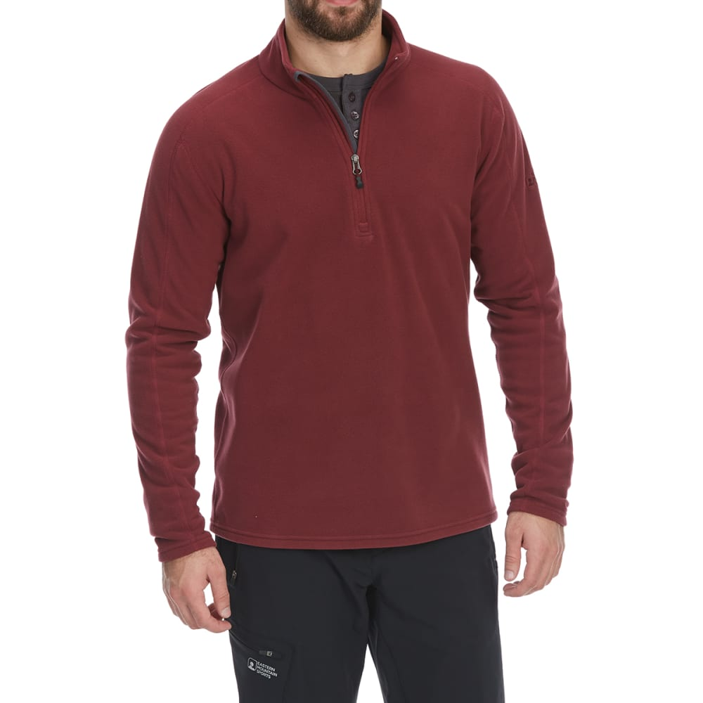 EMS Men's Classic Micro Fleece 1/4 Zip Pullover - TAWNY PORT