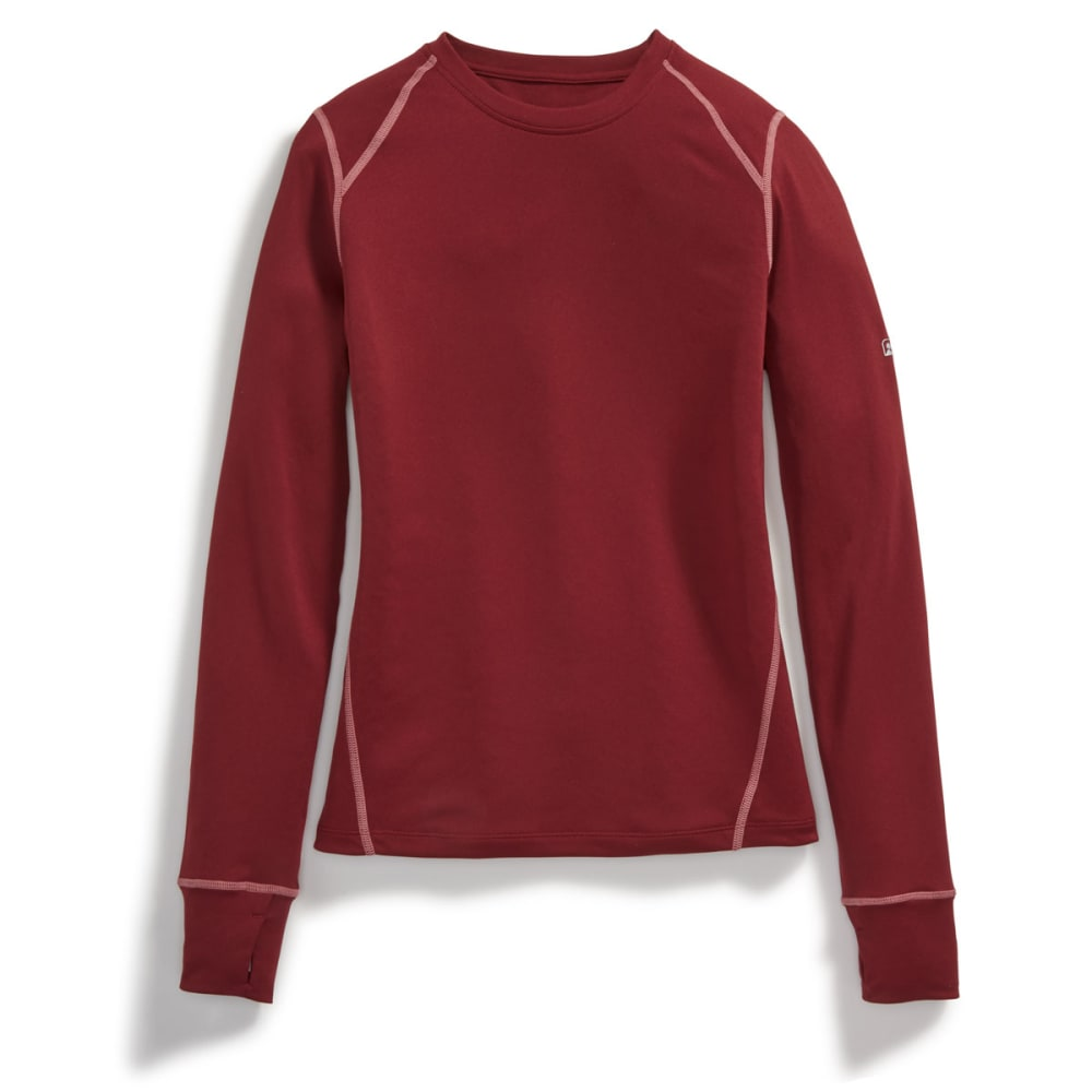EMS Women's Techwick Lightweight Crew Long-Sleeve Base Layer Top - ZINFANDEL