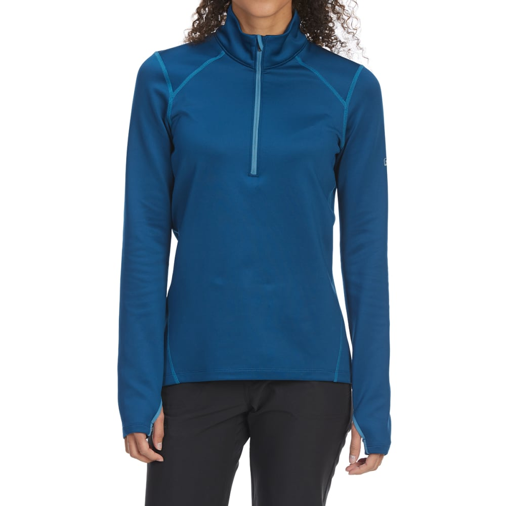 EMS Women's Techwick Heavyweight 1/4-Zip Base Layer Top - POSEIDON