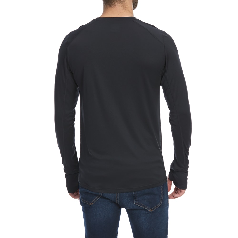 EMS Men's Techwick Lightweight Crew Long-Sleeve Base Layer Top - ANTHRACITE