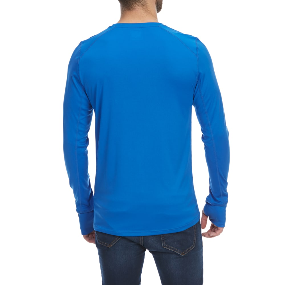 EMS Men's Techwick Lightweight Crew Long-Sleeve Base Layer Top - BLUE IIOLITE