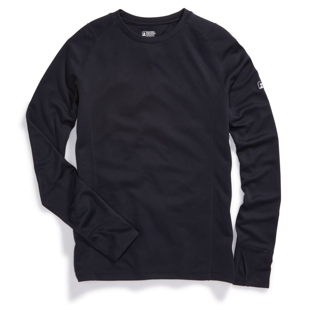 EMS Men's Techwick Midweight Long-Sleeve Crew Base Layer Top - ANTHRACITE