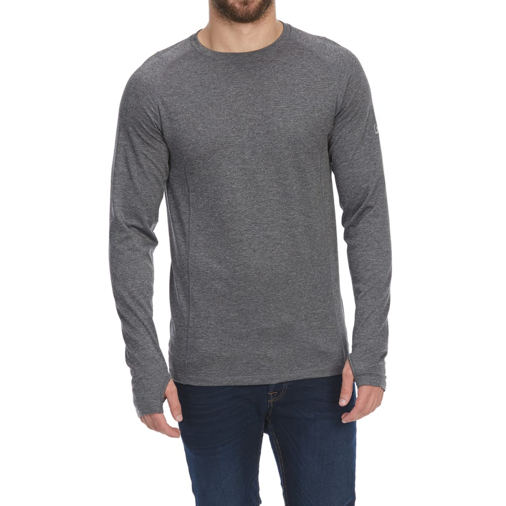 EMS Men's Techwick Midweight Long-Sleeve Crew Base Layer Top - NEUTRAL GRY