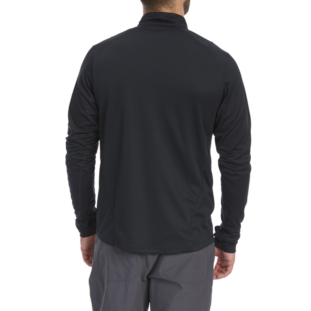 EMS Men's Techwick Midweight ¼-Zip Base Layer Top - ANTHRACITE