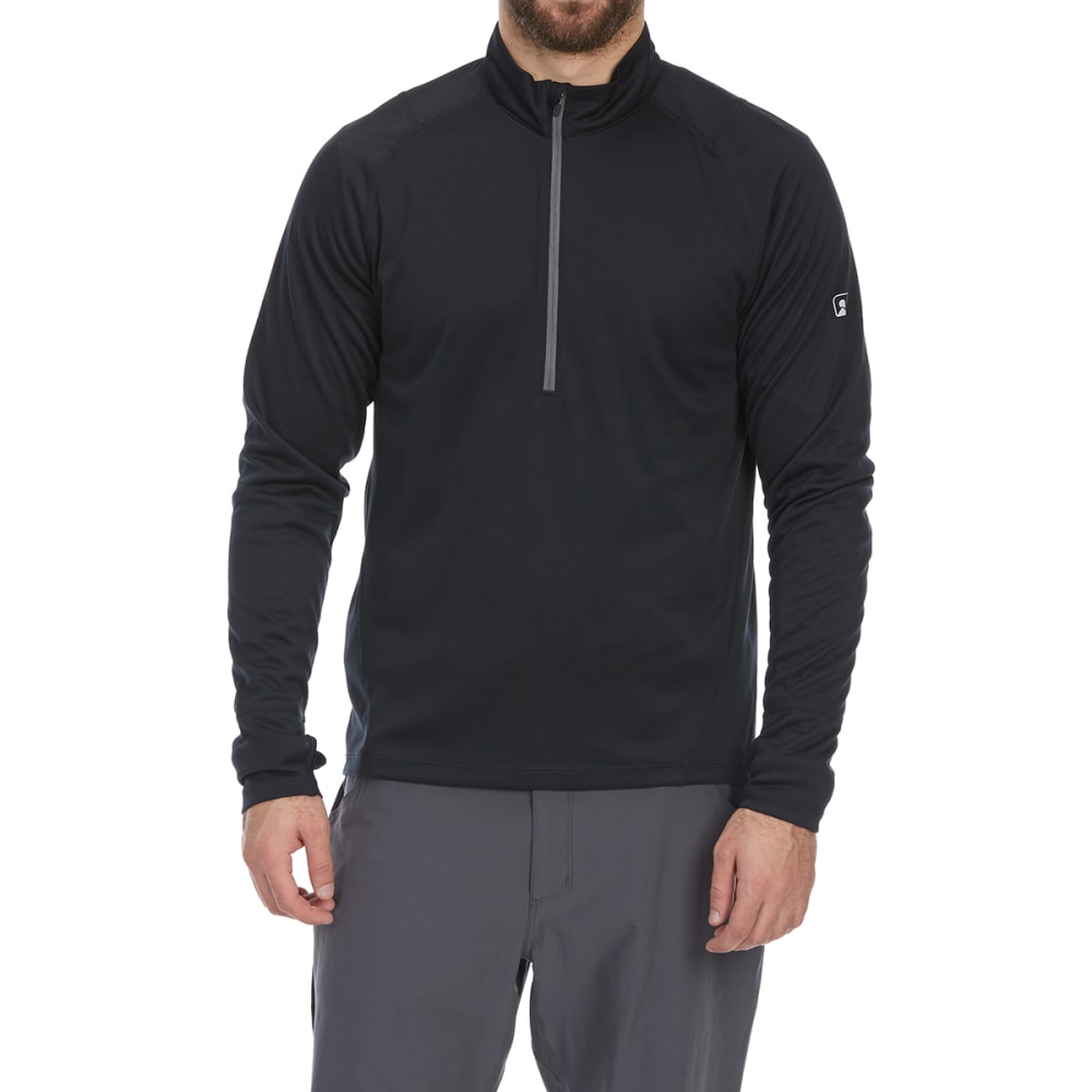 EMS Men's Techwick Midweight 1/4 Zip Base Layer Top - ANTHRACITE