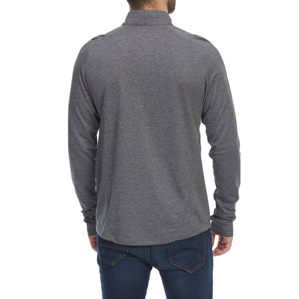 EMS Men's Techwick Midweight ¼-Zip Base Layer Top - NEUTRAL GRY