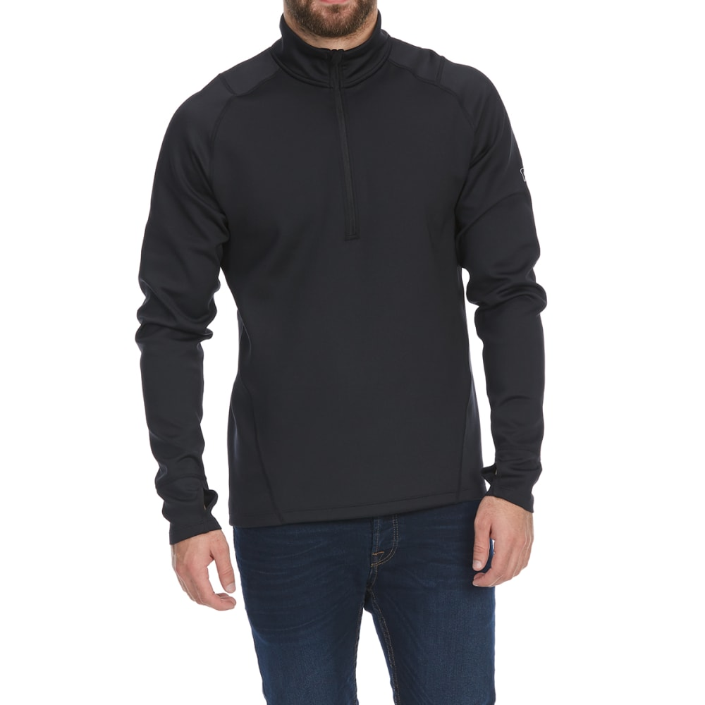EMS Men's Techwick Heavyweight 1/4-Zip Base Layer Top - ANTHRACITE