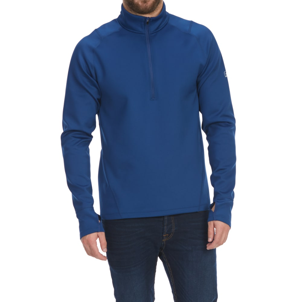 EMS Men's Techwick Heavyweight 1/4-Zip Base Layer Top - ESTATE BLUE