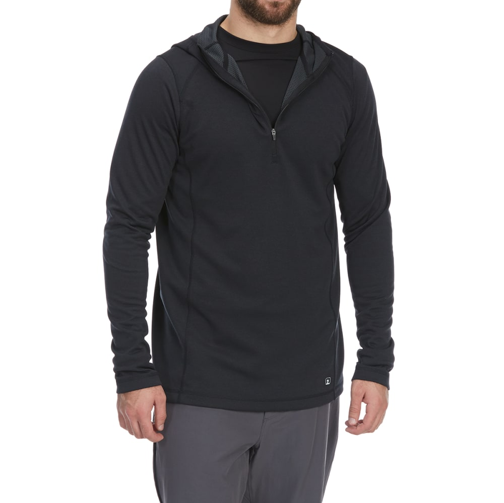 EMS Men's Techwick Dual Thermo II Half Zip Pullover Hoodie - ANTHRACITE