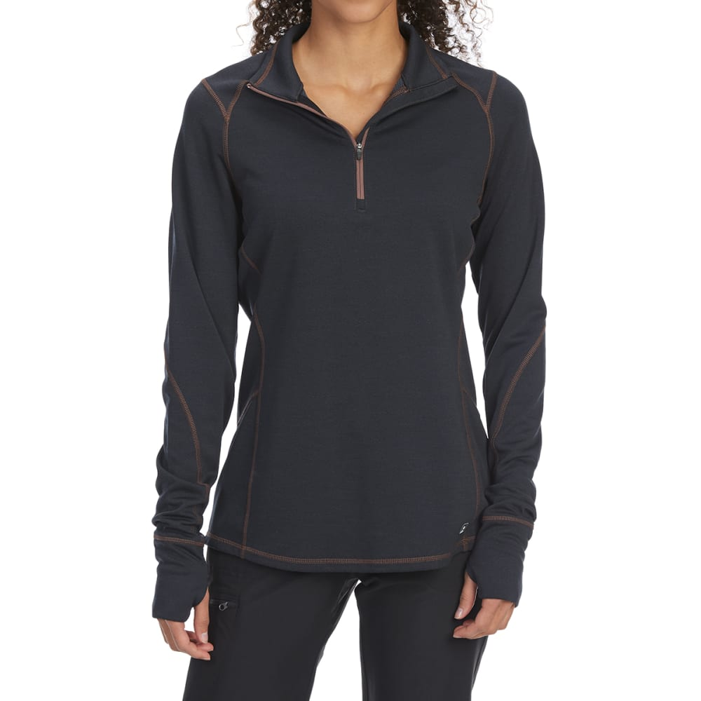 EMS Women's Techwick Dual Thermo II Half Zip Pullover - ANTHRACITE