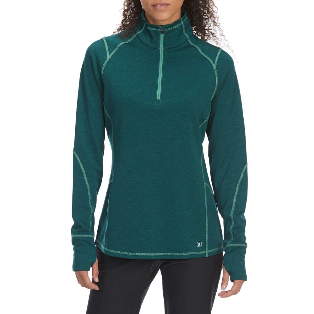 EMS Women's Techwick Dual Thermo II Half Zip Pullover - BOTANICAL GARDEN