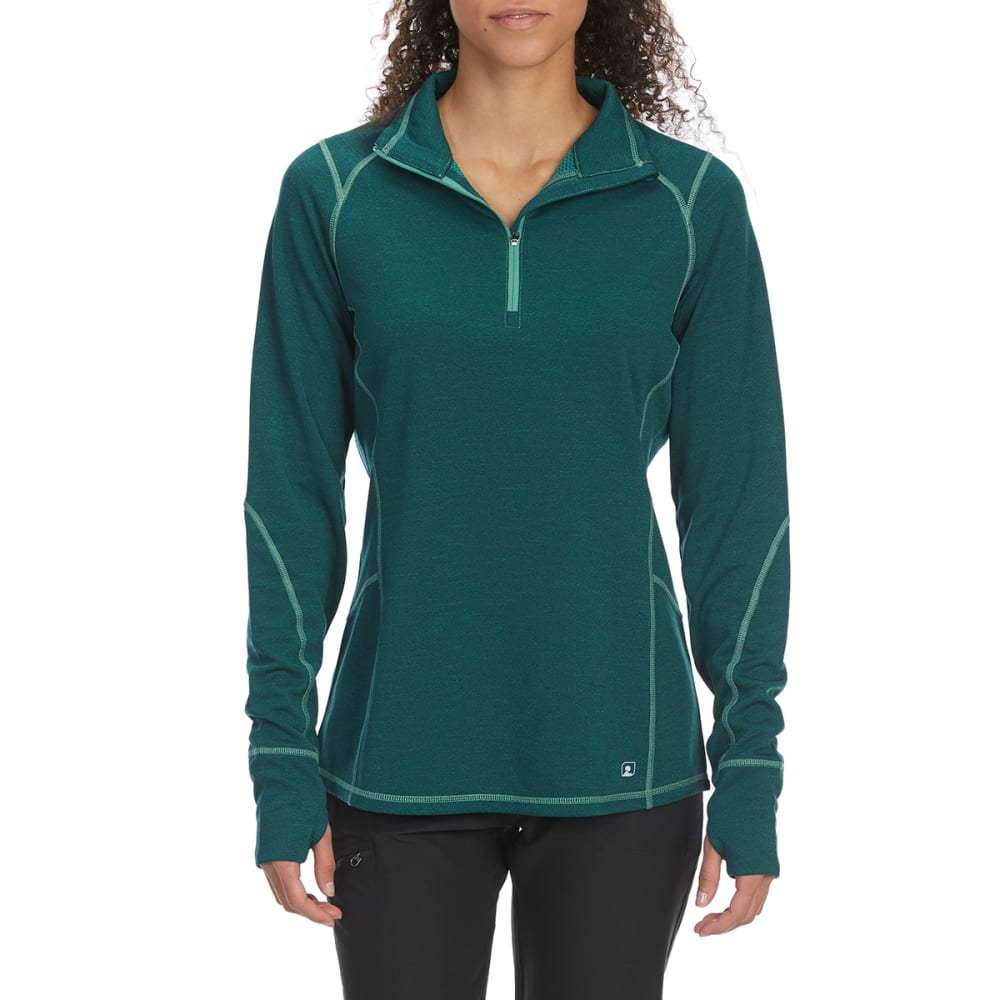 EMS Women's Techwick Dual Thermo II Half Zip Pullover - BOTANICAL GARDEN