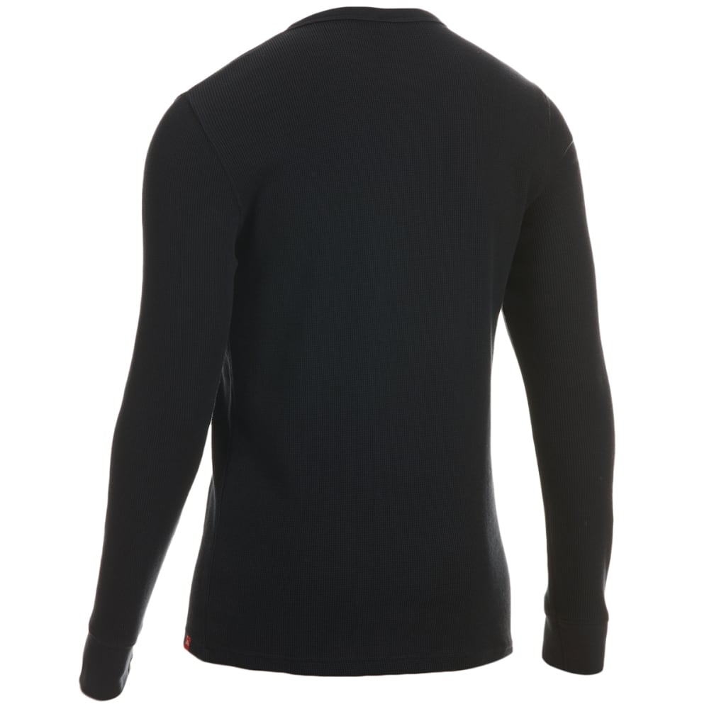 EMS Men's Rowan Waffle Long-Sleeve Henley - ANTHRACITE