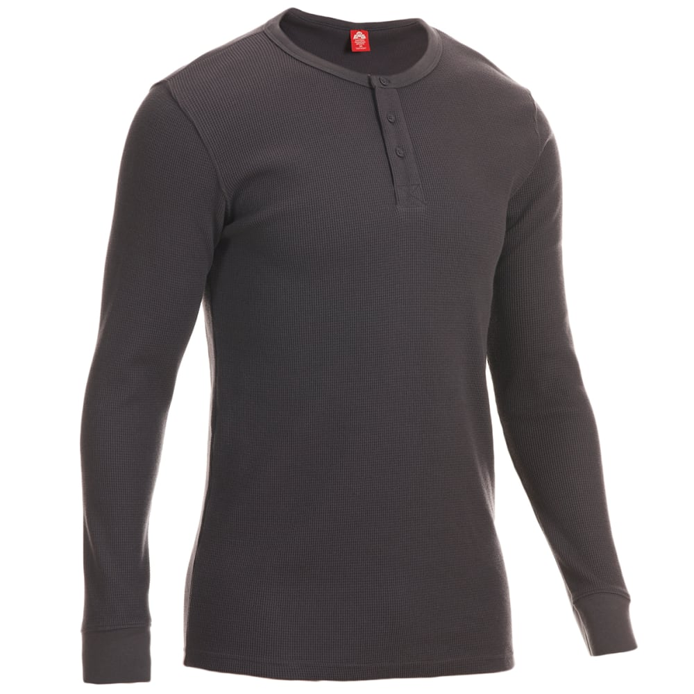 EMS Men's Rowan Waffle Long-Sleeve Henley - FORGED IRON