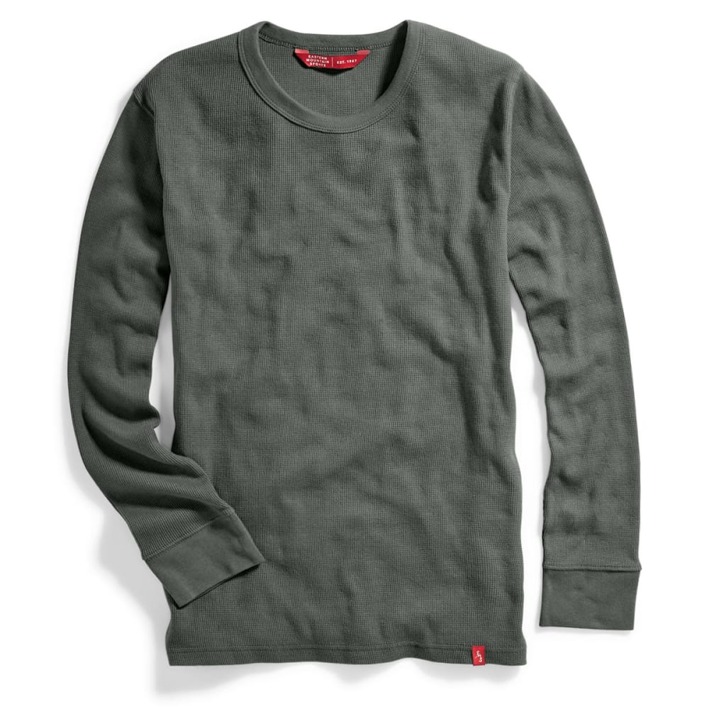 EMS Men's Rowan Waffle Crew Long-Sleeve Shirt - CASTOR GREY