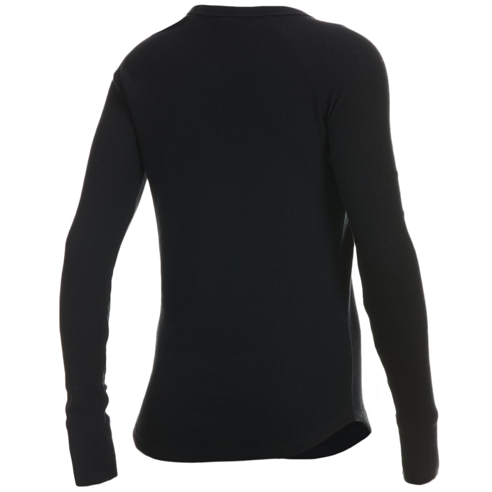 EMS Women's Lakeside Waffle Crew Long-Sleeve Shirt - ANTRACITE