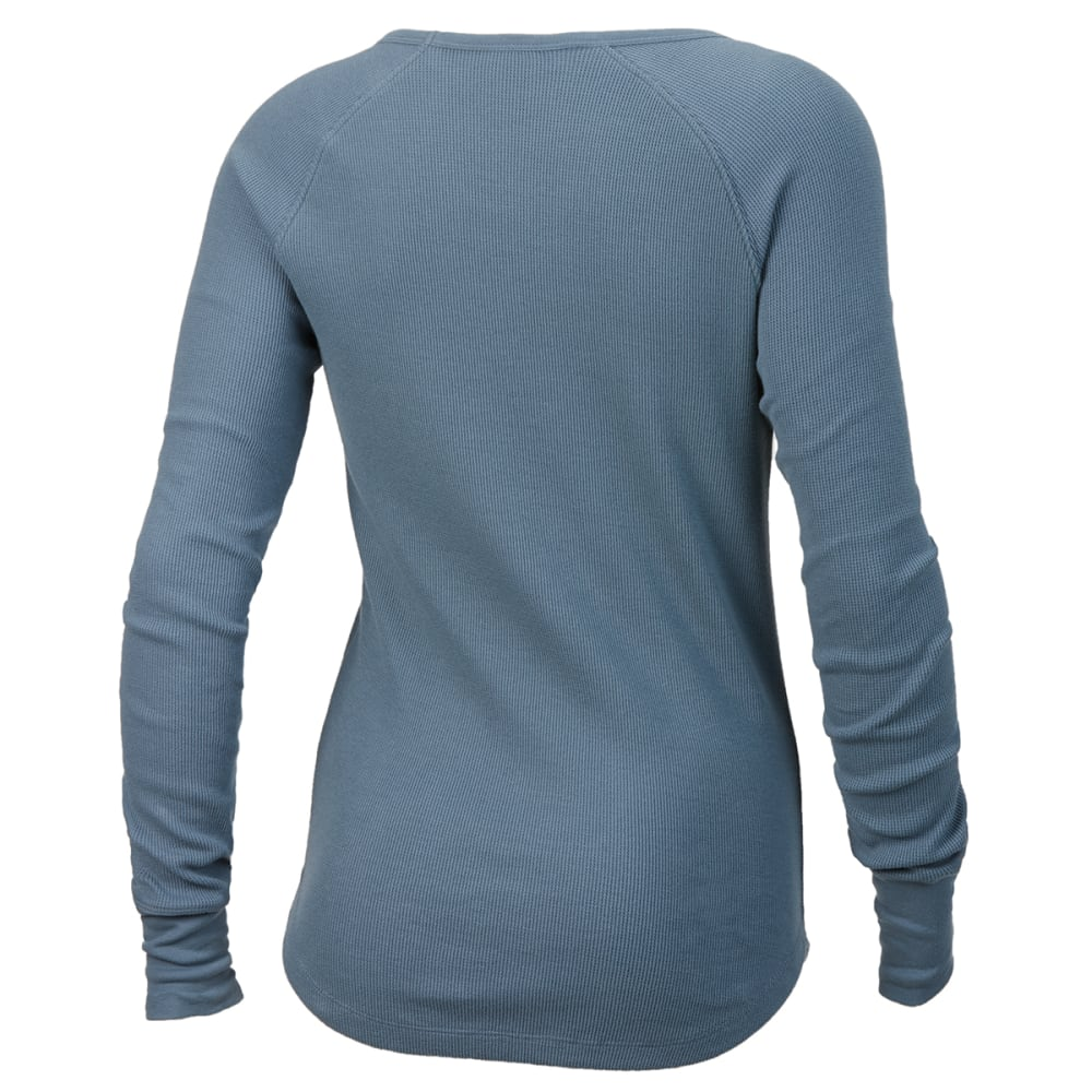 EMS Women's Lakeside Waffle Crew Long-Sleeve Shirt - BLUE MIRAGE