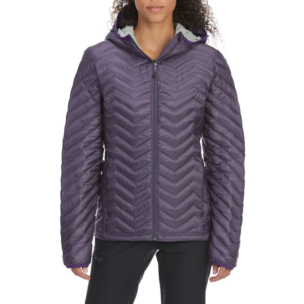 EMS Women's Feather Pack Hooded Jacket - GRAYSTONE