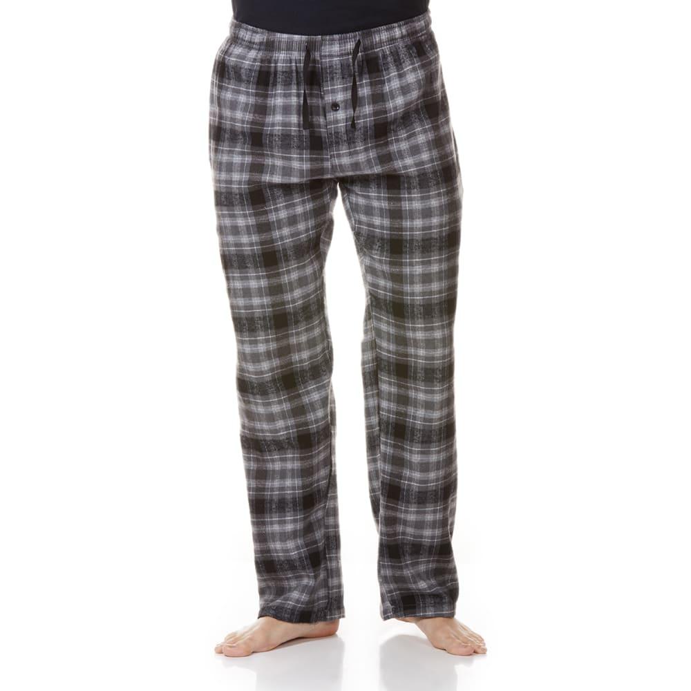 GELERT Men's Flannel Lounge Pants - CHR/BLK PLD