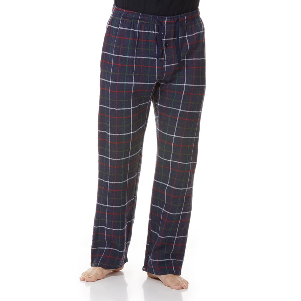 GELERT Men's Flannel Lounge Pants - NAVY PLD