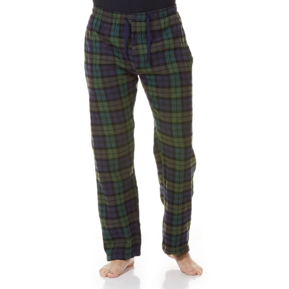 GELERT Men's Flannel Lounge Pants - NVY/GRN PLD
