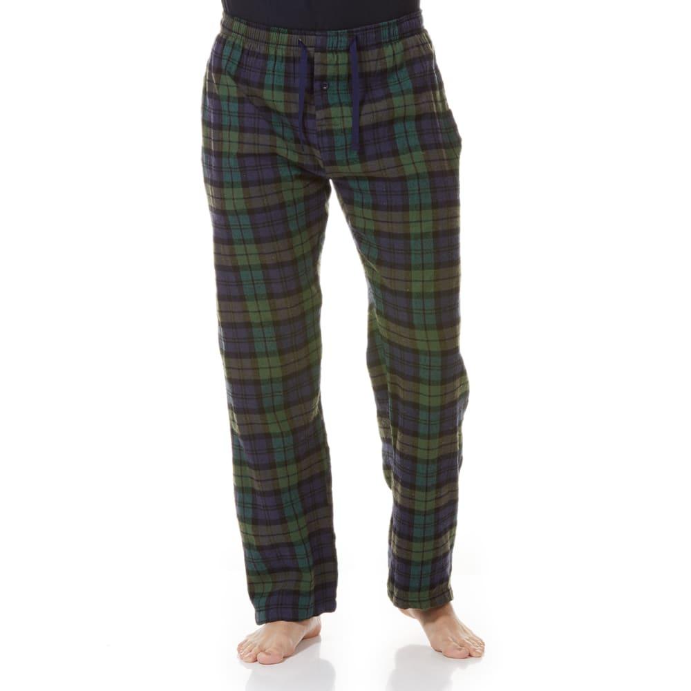 GELERT Men's Flannel Lounge Pants - NVY/GRN PLD