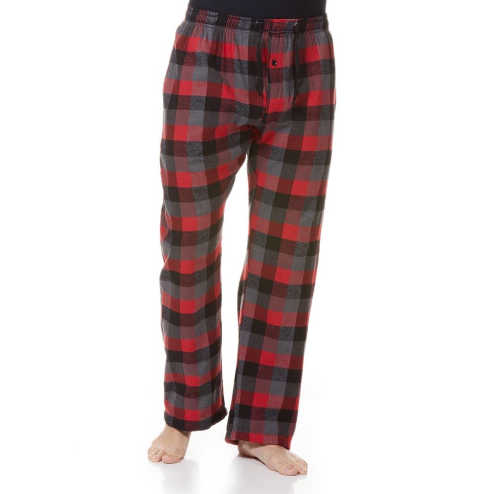 GELERT Men's Flannel Lounge Pants - RED BUFFALO PLD