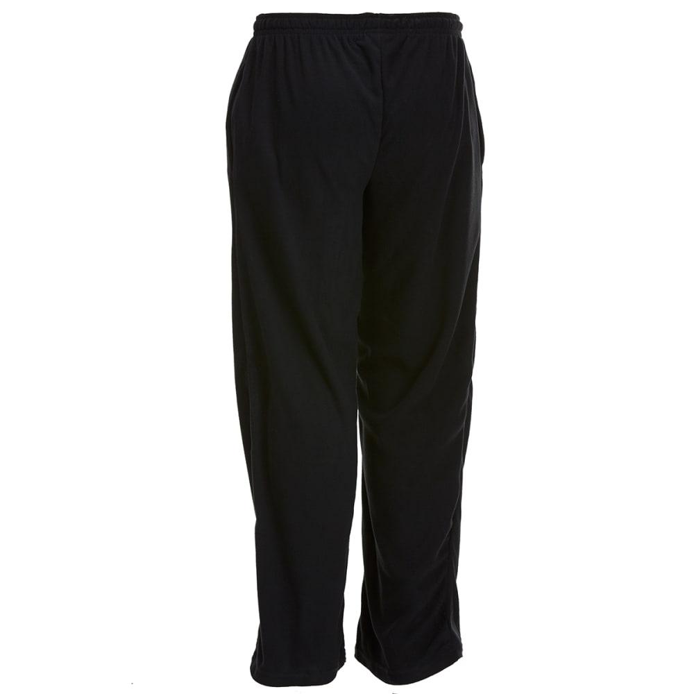 GELERT Men's Solid Fleece Lounge Pants - SOLID BLACK