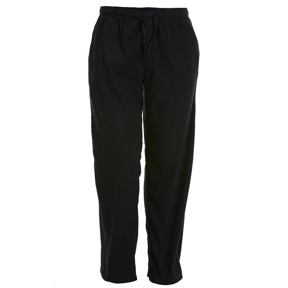 GELERT Men's Solid Fleece Lounge Pants - SOLID BLACK