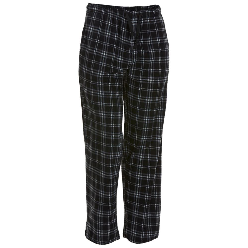 GELERT Men's Plaid Fleece Lounge Pants S