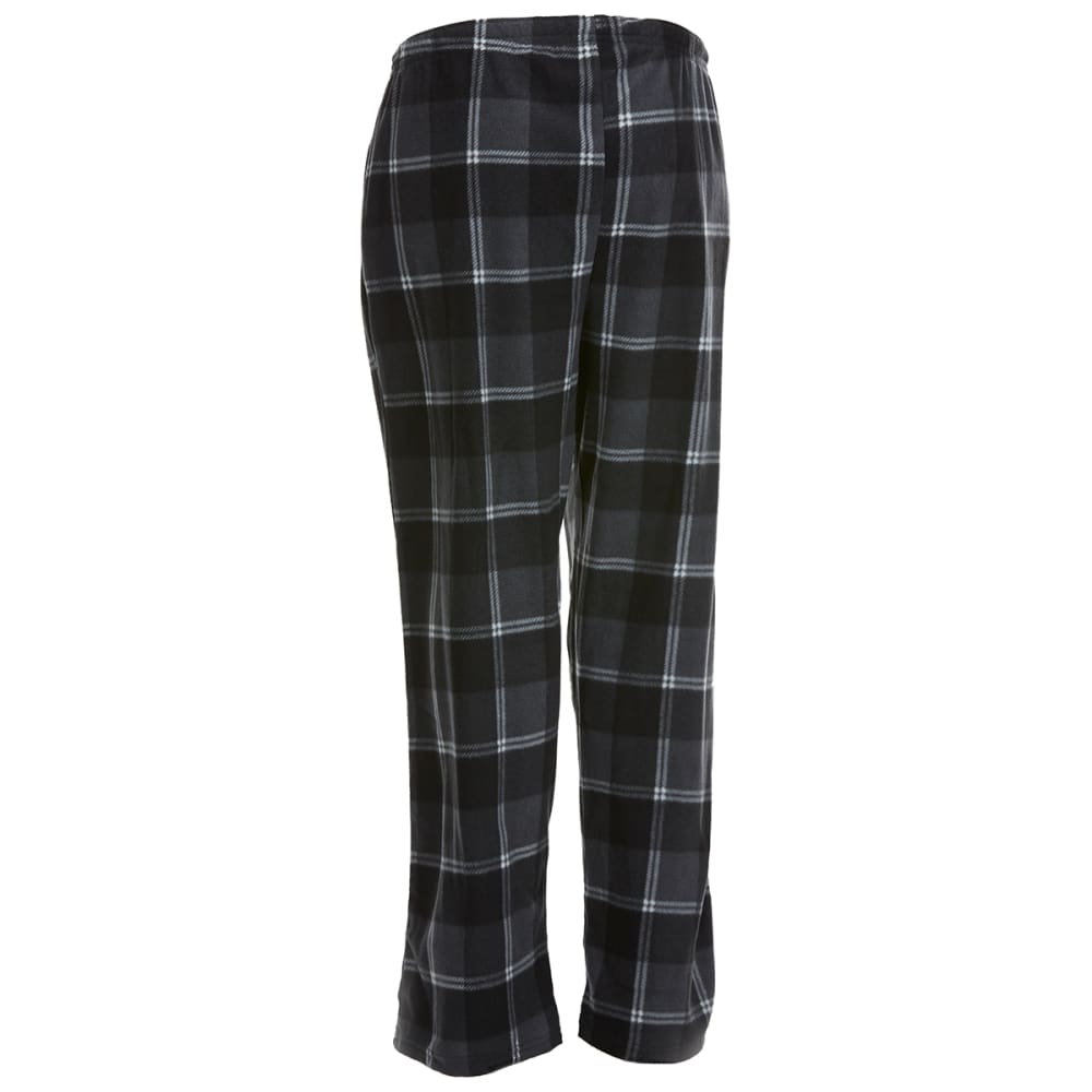 GELERT Men's Plaid Fleece Lounge Pants - CHR/BLK PLAID