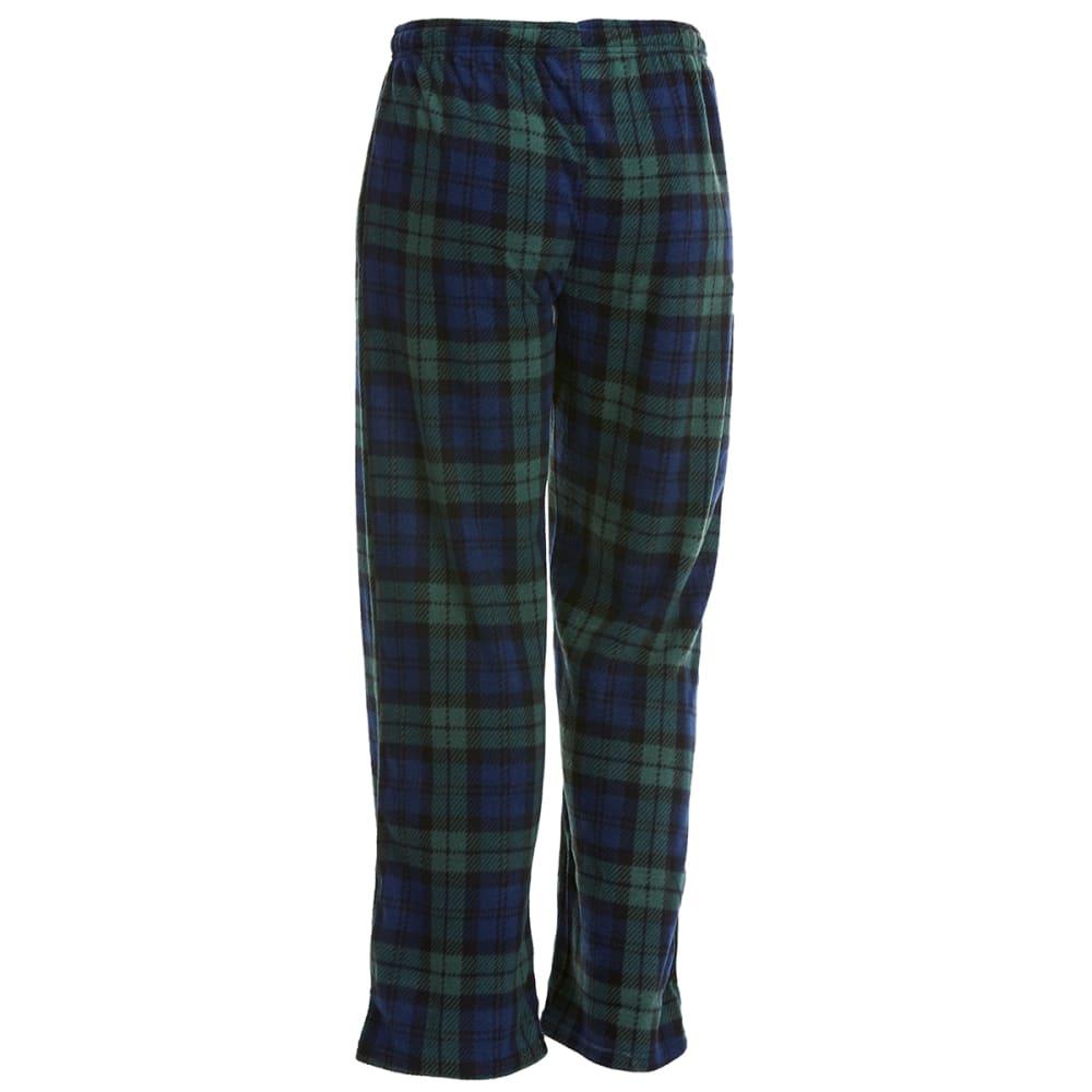 GELERT Men's Plaid Fleece Lounge Pants - NVY/GRN PLAID