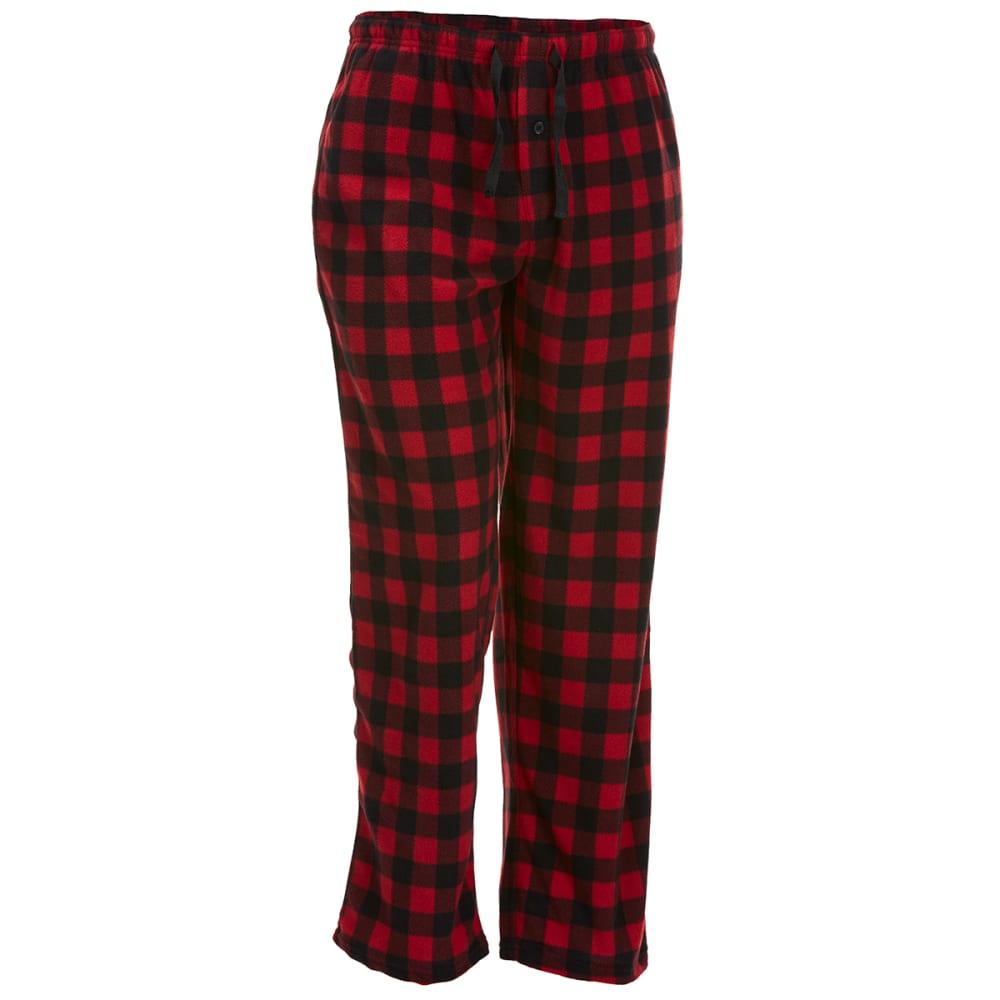 GELERT Men's Plaid Fleece Lounge Pants - RED BUFFALO PLD